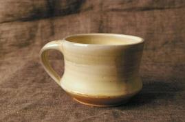 porcelain mug, soda fired