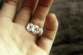 Hex Ring: plastic prototype
