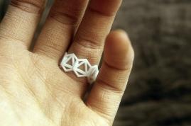3D printed plastic ring prototype