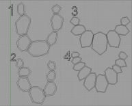 Preliminary drawings for a 3D printed chain